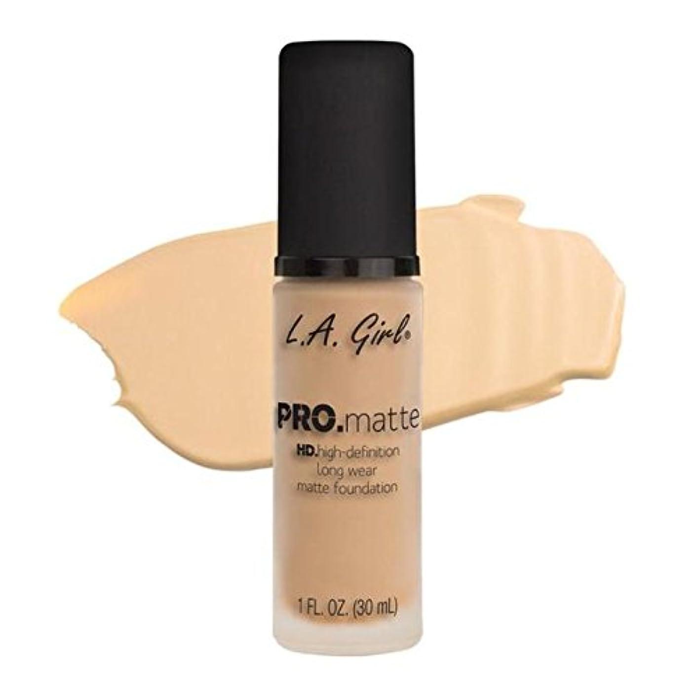 従事した連帯記念LA Girl PRO.mattte HD.high-definition long wear matte foundation (GLM671 Ivory)