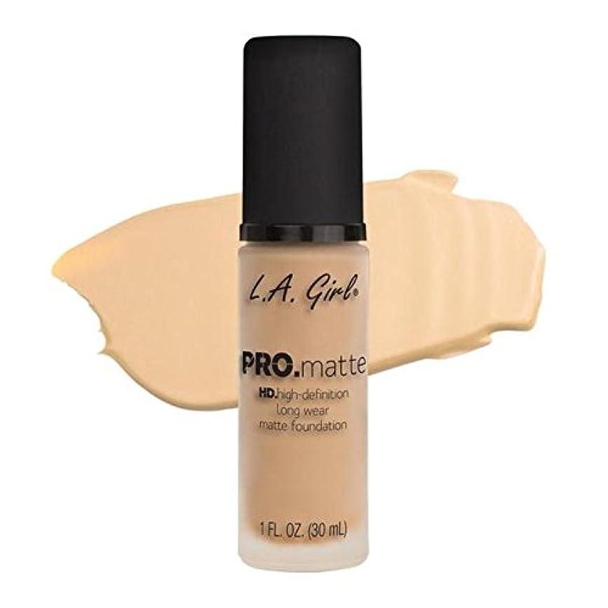 言語かまど昆虫LA Girl PRO.mattte HD.high-definition long wear matte foundation (GLM671 Ivory)