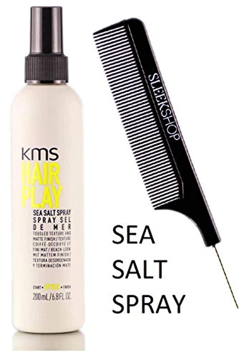 かろうじてオーク扇動するKMS 髪がSEA SALTスプレーを再生し、風になびく髪テクスチャ&マット仕上げ(STYLISTのKIT) 6.8オンス/ 200ミリリットル