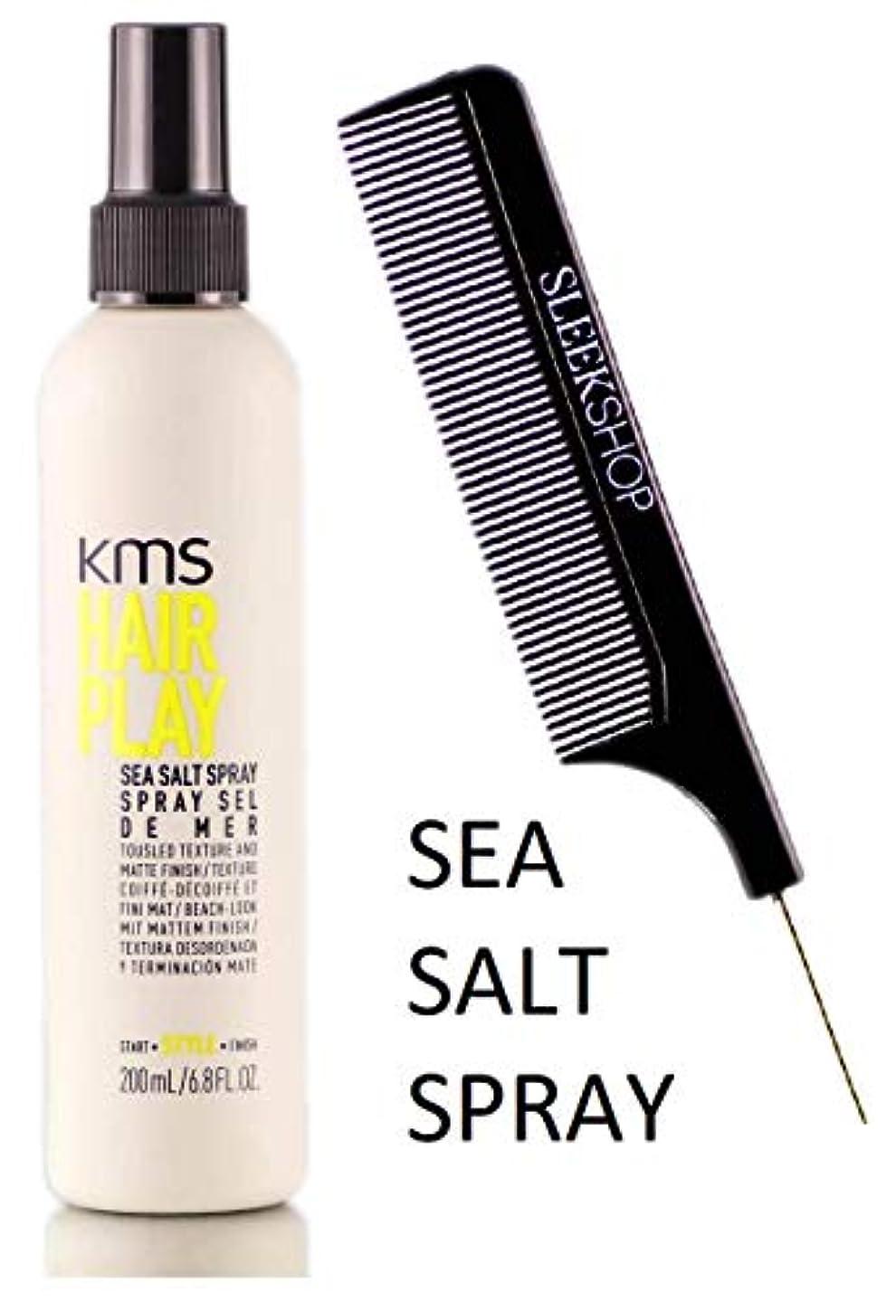 ライバルニンニク天文学KMS 髪がSEA SALTスプレーを再生し、風になびく髪テクスチャ&マット仕上げ(STYLISTのKIT) 6.8オンス/ 200ミリリットル
