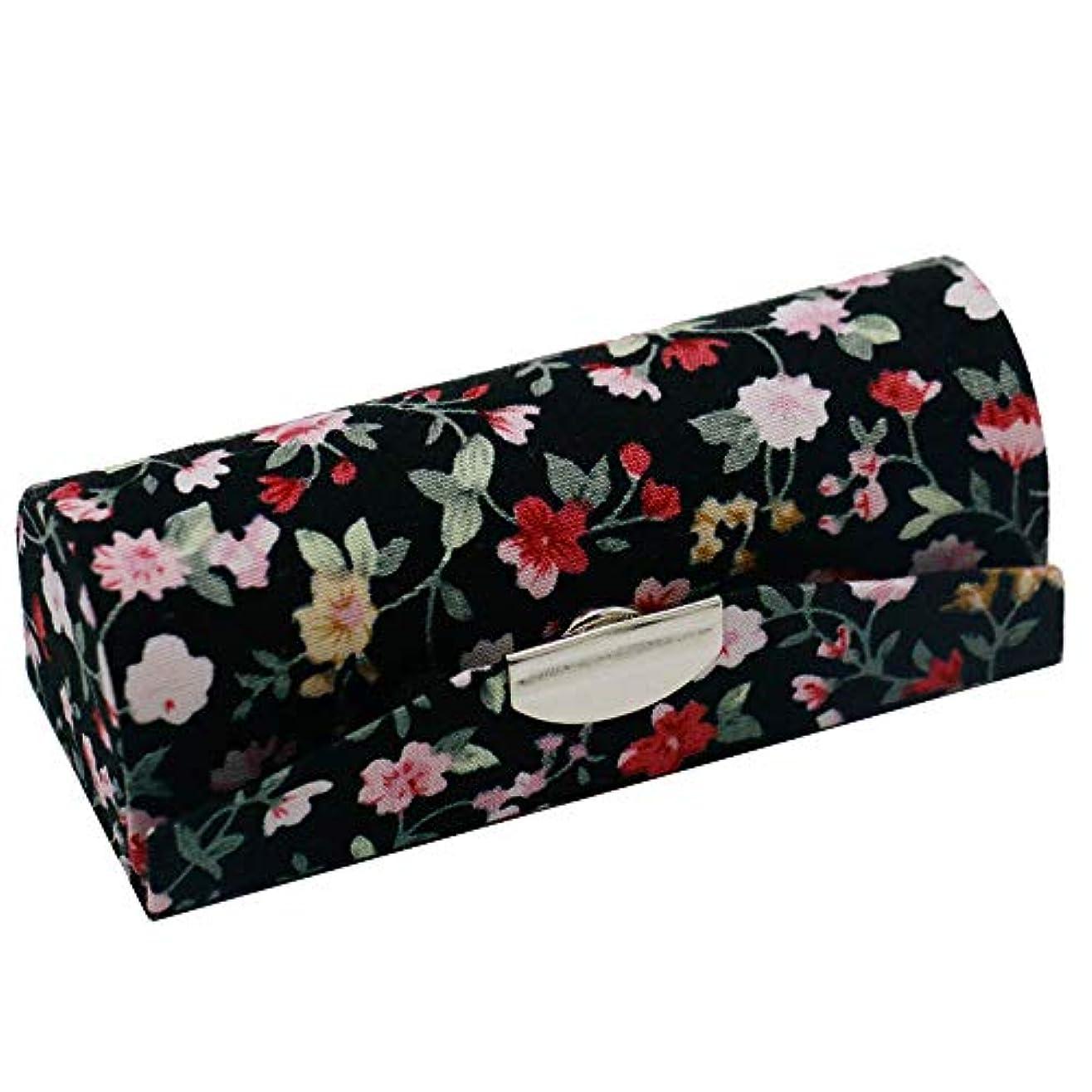 歪める脱走デザイナーC-Weiwei 和雑貨 かわいい 和小物 プレゼント 口紅ケース 母の日 さくら 桜 ギフト (Cブラック)