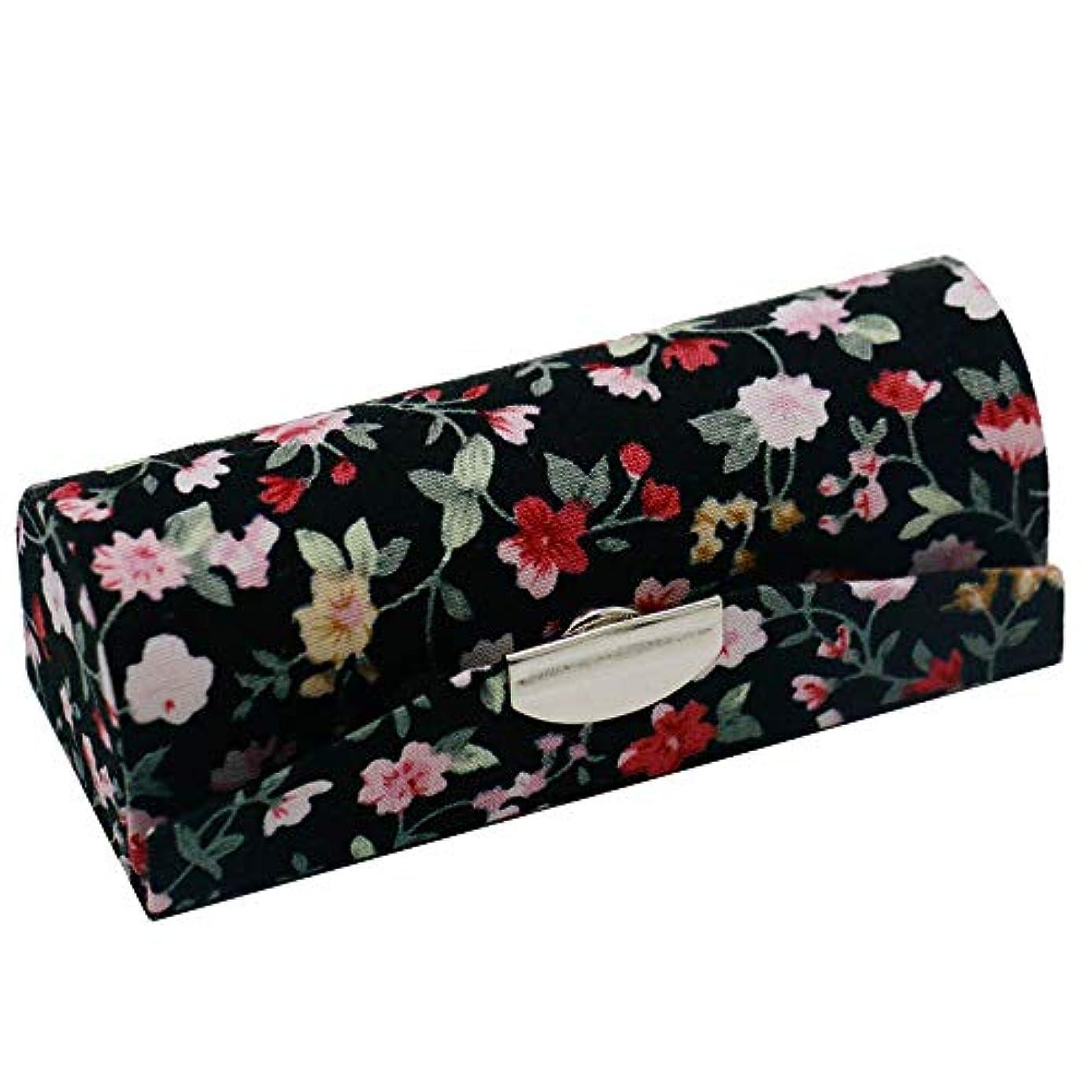 フィードオン単なる練習C-Weiwei 和雑貨 かわいい 和小物 プレゼント 口紅ケース 母の日 さくら 桜 ギフト (Cブラック)