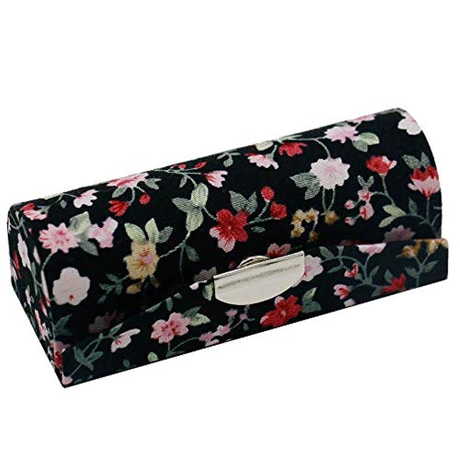理解シリング金曜日C-Weiwei 和雑貨 かわいい 和小物 プレゼント 口紅ケース 母の日 さくら 桜 ギフト (Cブラック)