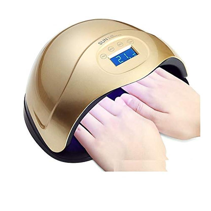 指令フェッチ市長LittleCat 48ワットネイルUVランプネイルネイル工作機械ハンズライト光線療法 (色 : 48W pink)