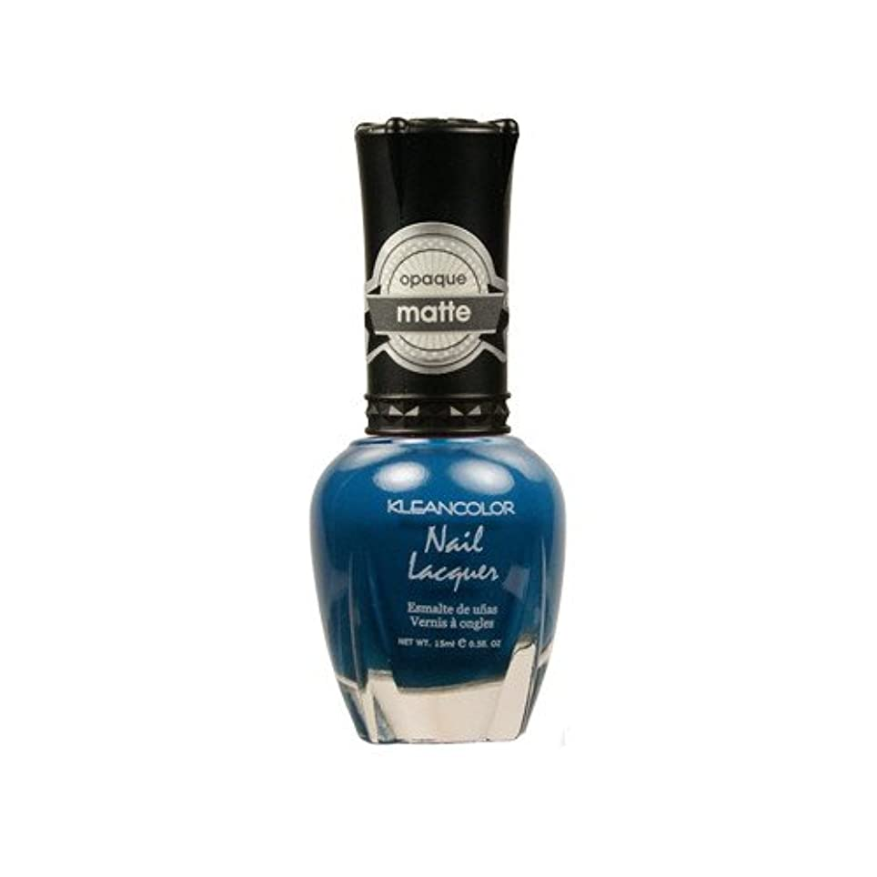 不屈要件警報(6 Pack) KLEANCOLOR Matte Nail Lacquer - Sensual Lagoon (並行輸入品)