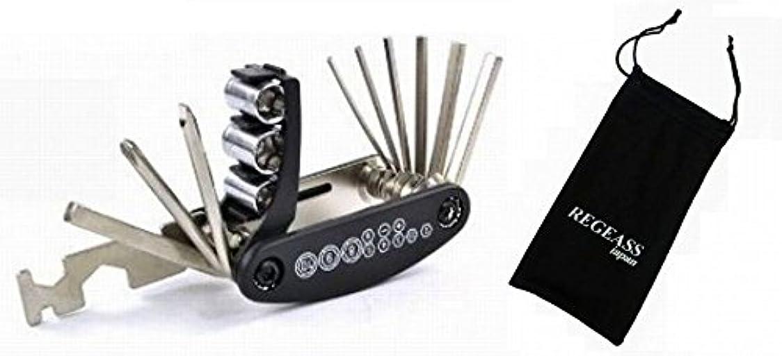 財産建設つまずくREG-Tool1 多機能コンパクト万能工具&REGEASSロゴ入り 工具収納ポーチ セット