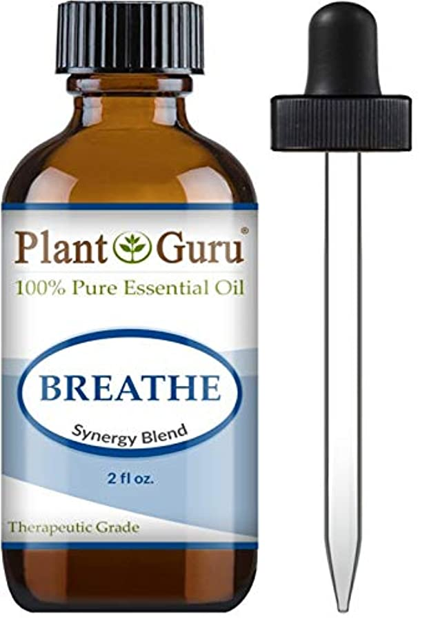怒っているアパルバケットBreathe Synergy Blend Essential Oil. 2 oz. (59 Ml.) 100% Pure, Undiluted, Therapeutic Grade. (Eucalyptus, Peppermint...