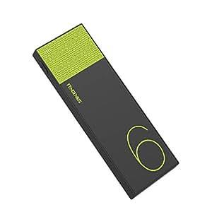 テック 大容量モバイルバッテリー 6,000mAh 2.1A出力対応 イエロー TMB-6KSYL