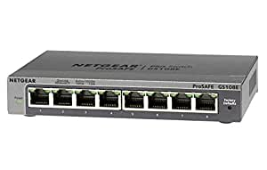 NETGEAR スイッチングハブ ギガビット8ポート/金属シャーシ/VLAN QoS IGMP/外部電源/ファンレス静音設計/省エネ/無償永久保証 GS108E-300JPS