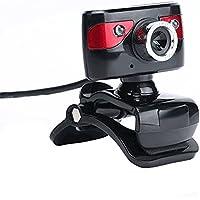 KKmoon USB 2.0 1200万画素 HDカメラ カメラ Webカメラ 360度 マイククリップオン付き デスクトップSkypeコンピュータPCラップトップ用
