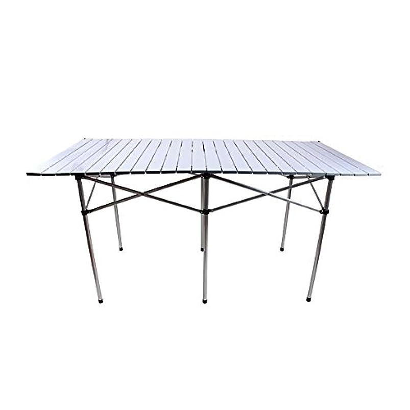 描写人工的な些細調節可能な 折りたたみテーブル/屋外ポータブルテーブル/ホーム超軽量折りたたみテーブル/アルミニウム多機能テーブル 回転することができます