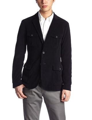 Cotton Polyester Pile Safari Jacket 1122-133-3616: Navy