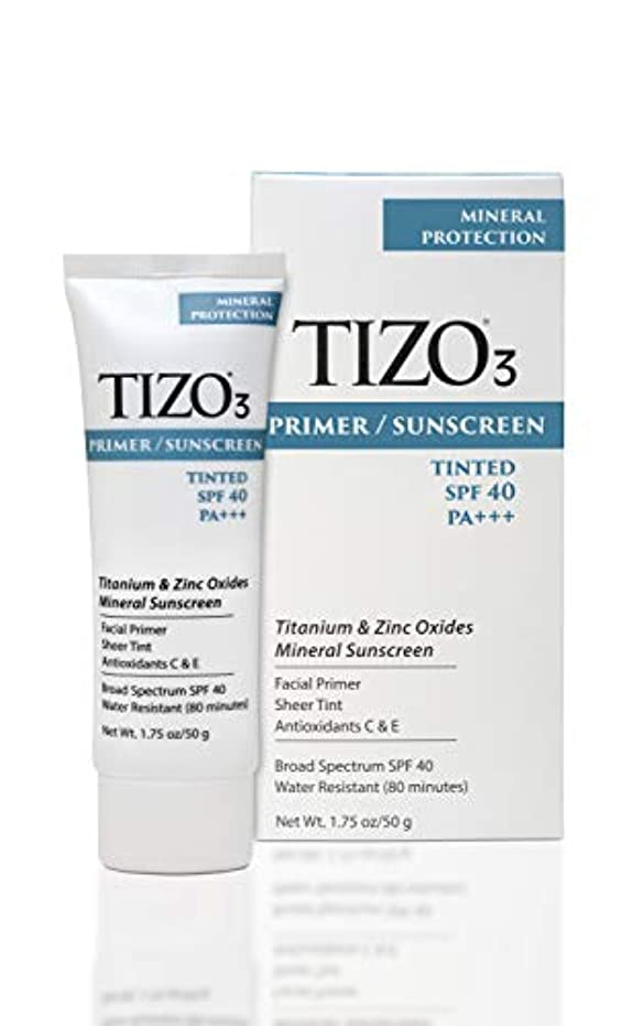 地上でリネン革新Tizo 3 Facial Mineral Sunscreen Tinted SPF40 50ml