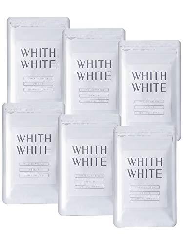 フィス ホワイト サプリ ビタミンB2 ビタミンC サプリメント 夏に負けない太陽対策 「コラーゲン プラセンタ ヒアルロン酸 配合」日本製 1日2粒 60粒 (6個セット)