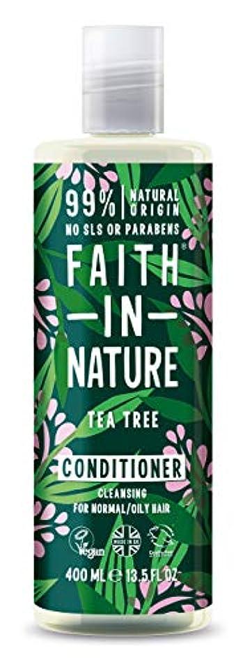 たぶん切り下げ約Faith In Nature Tea Tree Deep Cleansing Conditioner Normal To Greasy Hair 400ml