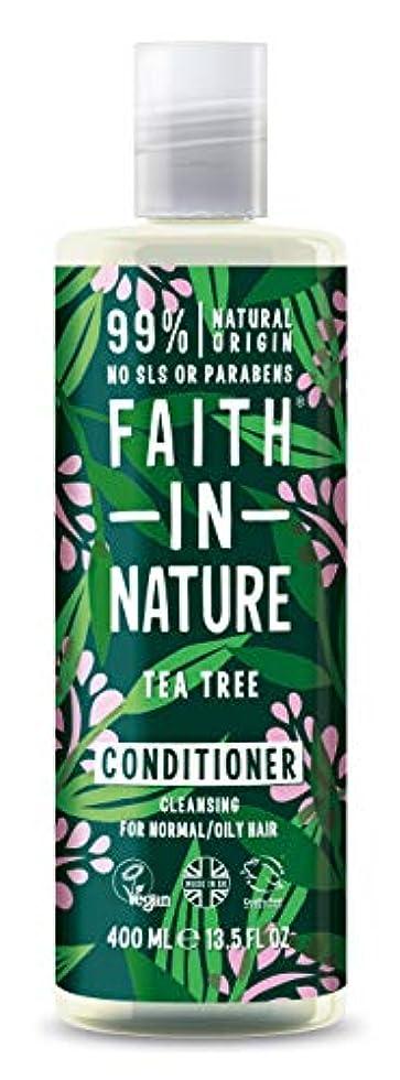 とらえどころのない講堂ソーシャルFaith In Nature Tea Tree Deep Cleansing Conditioner Normal To Greasy Hair 400ml