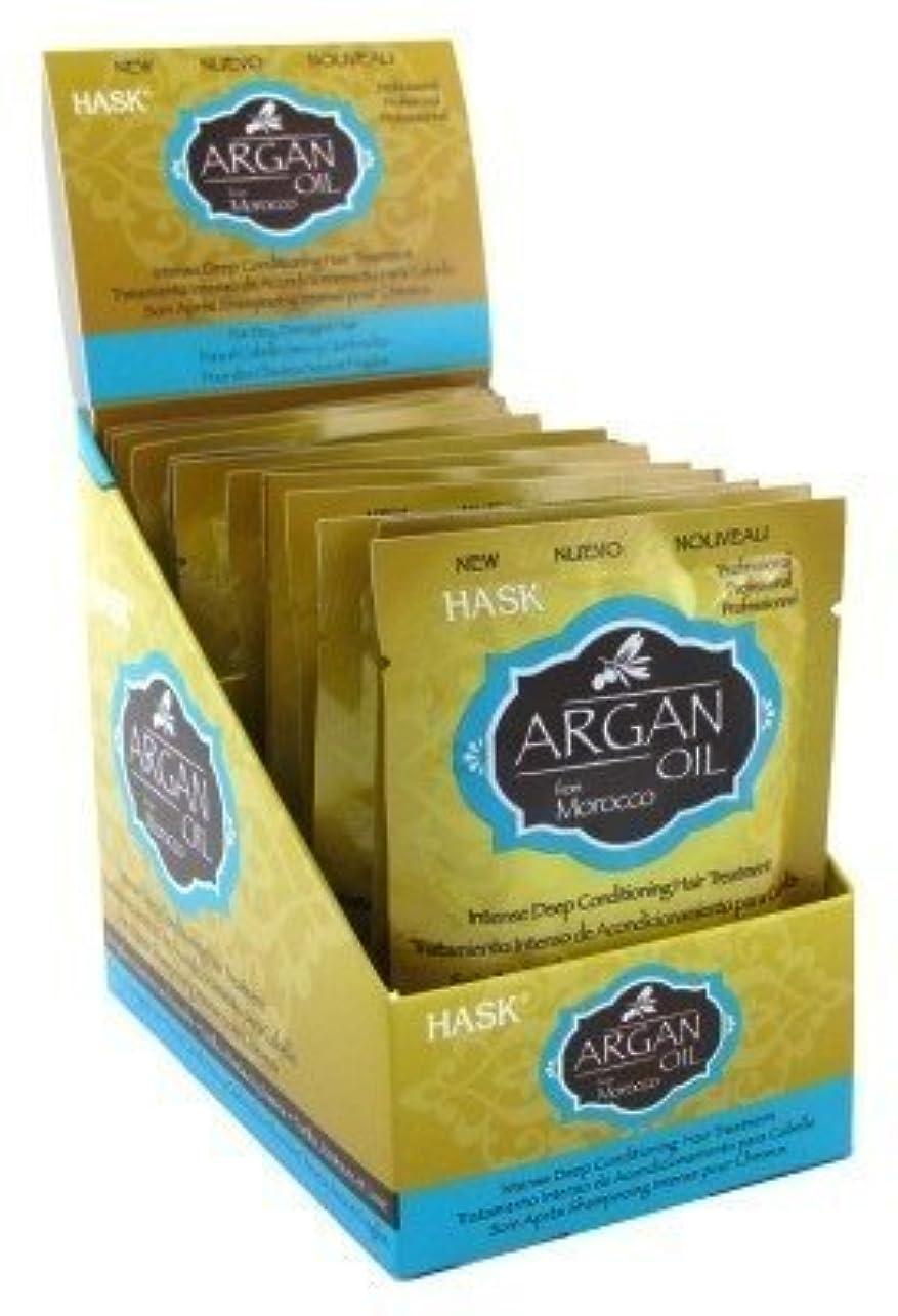 鎮痛剤ケニア器具Hask コンディショナー海外直送品 (12袋セット, アラガンオイルディープ(Argan Oil Deep))