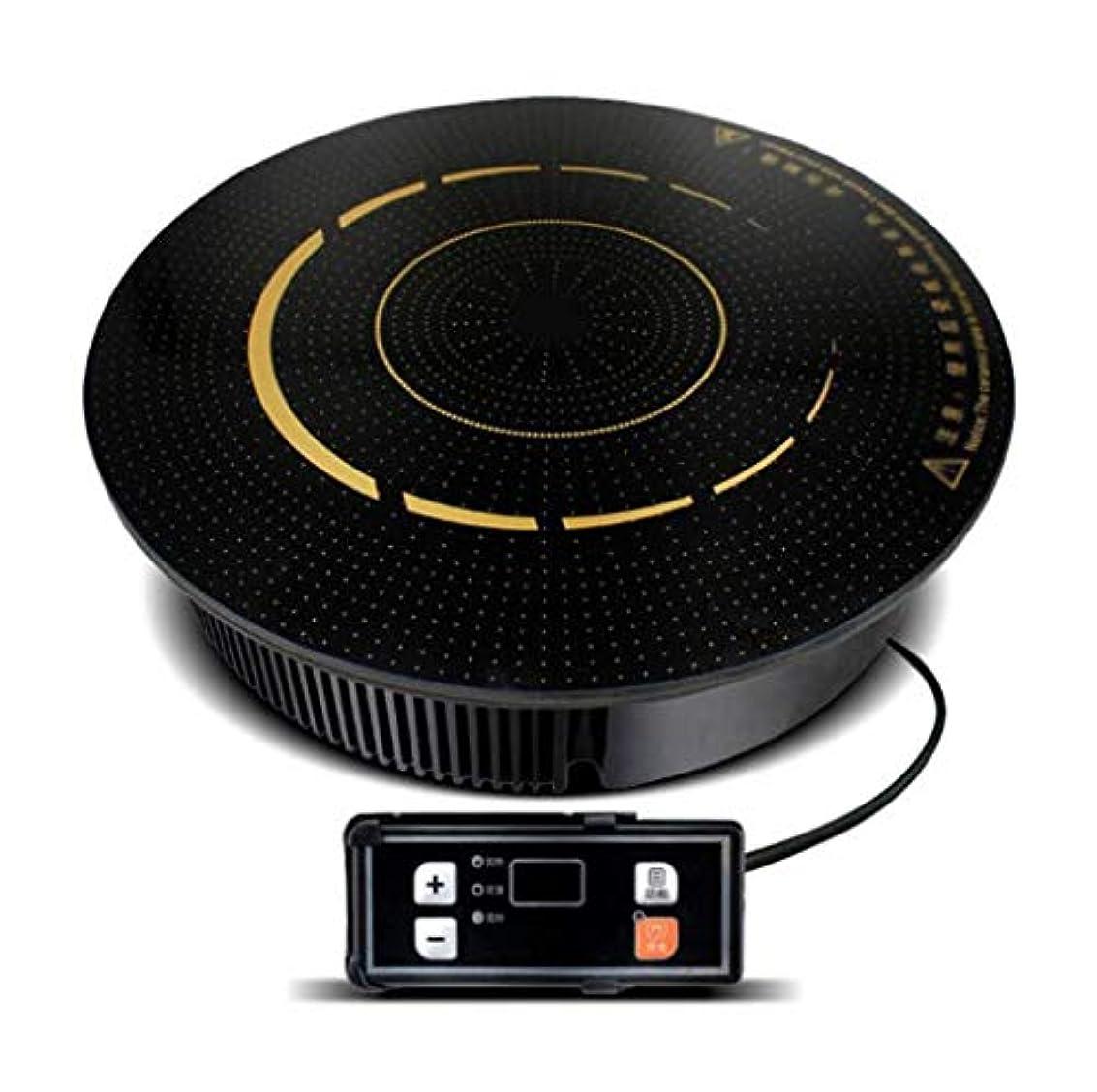含むランチョン関係ラウンド電磁調理器ホットポットレストランホテル、商業ラウンド埋め込ま火災ボイラー誘導調理器2000Wワイヤ制御鍋電磁調理器は、鍋を選んではいけません