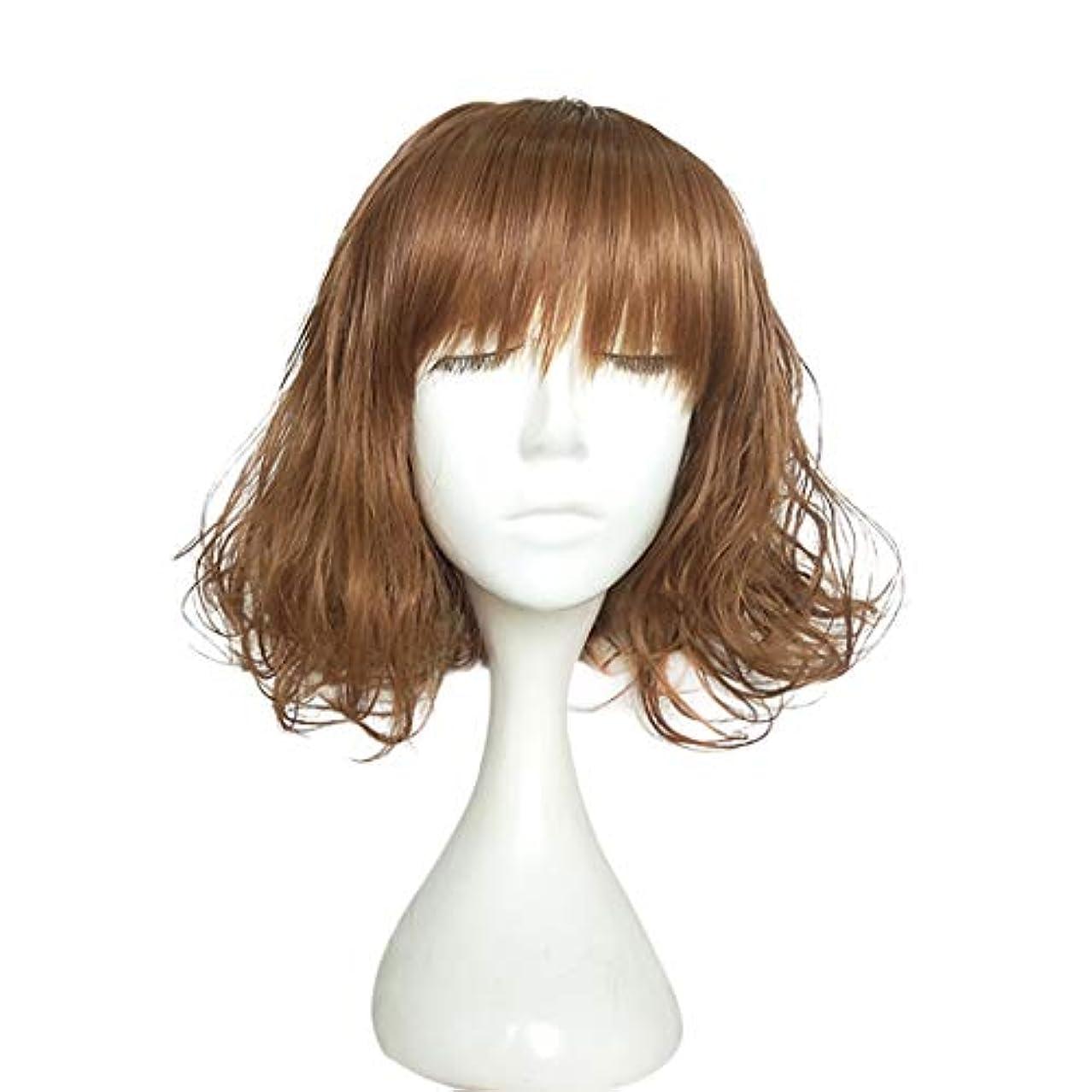 放射する賠償どんなときもYOUQIU レディースかつらチー劉ハイマイクロ短い髪ふんわりナチュラルスウィートウィッグウィッグ (色 : Light brown (picture color))
