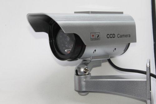 COM MI-CA028 【防犯カメラ(ダミー)】LED 常時点滅 で不審者を常に威嚇! ソーラーパネル 搭載 ダミーカメラ 防犯カメラ