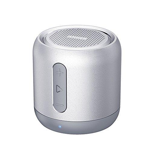 Anker SoundCore mini コンパクト Bluetoothスピーカー 【15時間連続再生 / 内蔵マイク搭載/micro SDカード & FMラジオ対応】(シルバー)