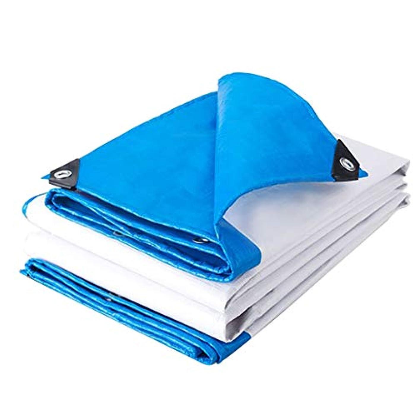 誰のペストリー抑圧者タープ 風雨を防ぐキャンプ用防水シート、ポリプロピレン製防水シート、酸化防止、軽量 テント (Color : Blue and White, Size : 8m×10m)