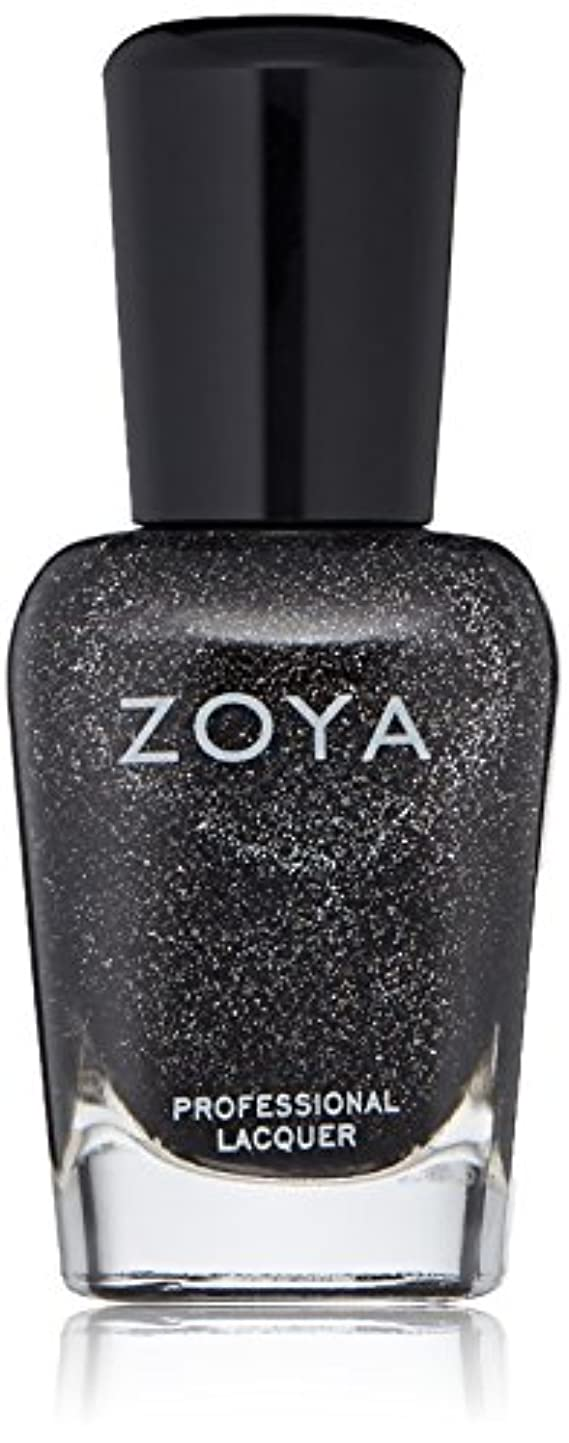 チケットあいさつファンシーZOYA ゾーヤ ネイルカラー ZP645 STORM ストーム 15ml  2012 ORNATE COLLECTION 微細なダイヤモンドホロが輝くブラック グリッター 爪にやさしいネイルラッカーマニキュア