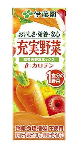 充実野菜 緑黄色野菜ミックス 紙パック 200ml ×24本