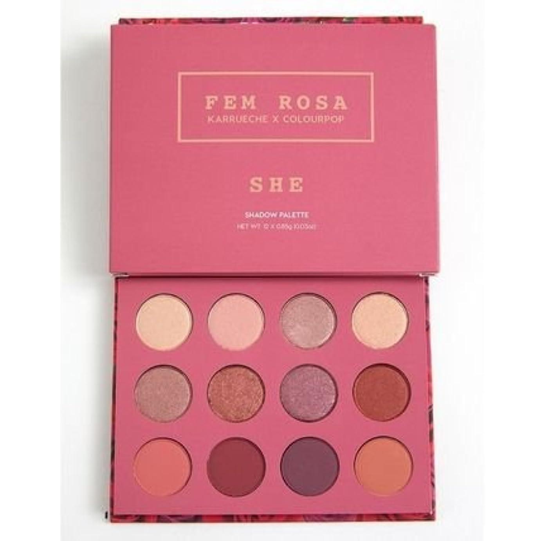 役職ウール生態学カラーポップ Colourpop She - Pressed Powder Shadow Palette