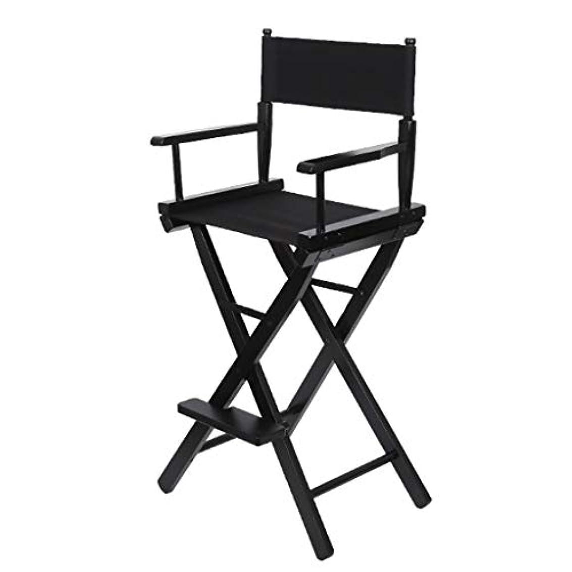 騒々しい悪意のあるミスペンドQ-Y-J 折りたたみ椅子ポータブル木製のハイチェア黒屋外スケッチドローイングレジャーチェアメイクアップチェアディレクターチェア (Color : A)