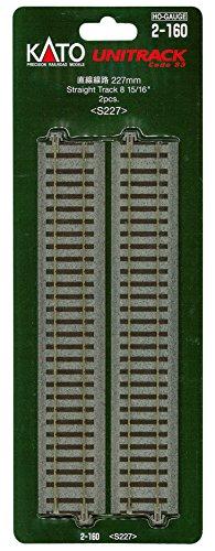 HOユニトラック線路 直線線路 227mm (2本入) #2-160