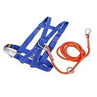 D DOLITY ロッククライミング ハーフボディー 降下保護 ハーネス ストラップ カラビナ付き CE認証 全6選択 - S, ロープ長さ3m