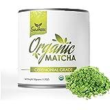 Matcha Green Tea Powder - Economy Ceremonial Grade -USDA Organic for Starbucks Lattes, Smoothies, Baking, Natural Energy & Weight Loss. Fat Burner - 50g Tin