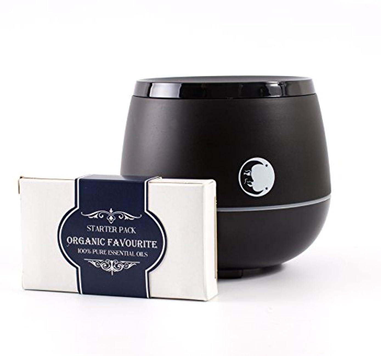 誠意噛むプログレッシブMystic Moments | Black Aromatherapy Oil Ultrasonic Diffuser With Bluetooth Speaker & LED Lights + Organic Favourite...