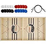Fast Sling Puck Game Toys Wooden Slingshot Hockey Board Games Sling Football Winner Board Table Games for Adult and Kids Fami