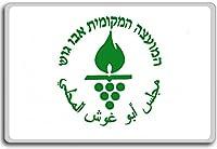 Israel, Abu Ghosh Flag City flag fridge magnet - 蜀キ阡オ蠎ォ逕ィ繝槭げ繝阪ャ繝