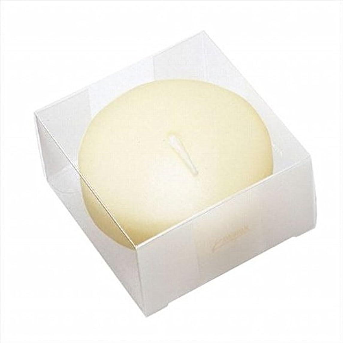叫ぶ深遠偶然のkameyama candle(カメヤマキャンドル) プール80(箱入り) 「 アイボリー 」 キャンドル 80x80x45mm (A7069050)