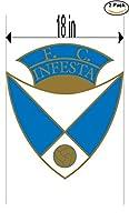 FC InfestaポルトガルサッカーフットボールクラブFC 2ステッカー車バンパーウィンドウステッカーデカール大18インチ