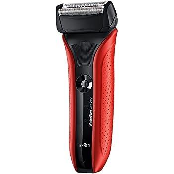 ブラウン メンズ電気シェーバー WaterFlex WF2s 3枚刃 水洗い/お風呂剃り可 レッド