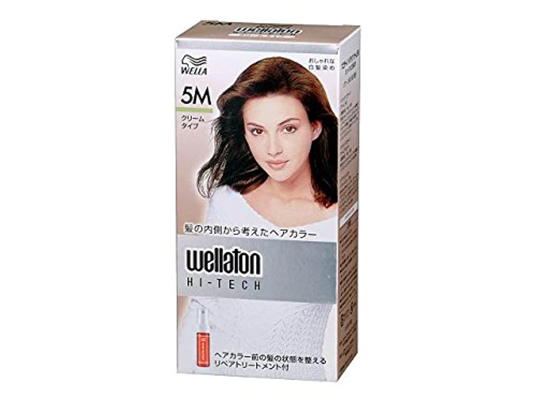 干渉レプリカ避けられない【ヘアケア】P&G ウエラトーン ハイテック クリーム 5M グリーン系の深い栗色 医薬部外品 白髪染めヘアカラー(女性用)×24点セット (4902565140459)