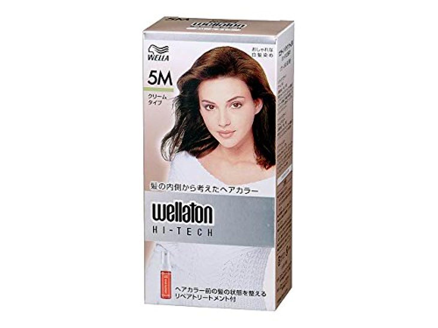 何よりも感謝している隙間【ヘアケア】P&G ウエラトーン ハイテック クリーム 5M グリーン系の深い栗色 医薬部外品 白髪染めヘアカラー(女性用)×24点セット (4902565140459)