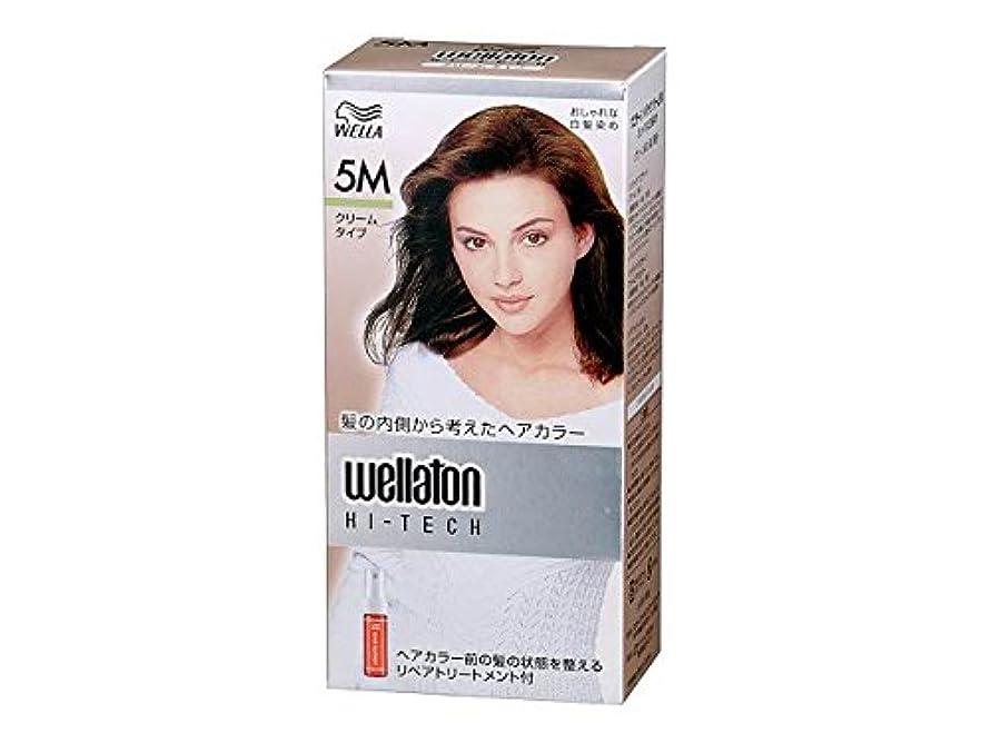 【ヘアケア】P&G ウエラトーン ハイテック クリーム 5M グリーン系の深い栗色 医薬部外品 白髪染めヘアカラー(女性用)×24点セット (4902565140459)