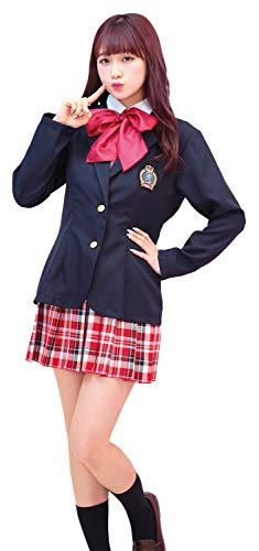 74bc8152723d23 TG ネイビースクール 制服 ブレザー コスプレ レディース 3点セットの画像