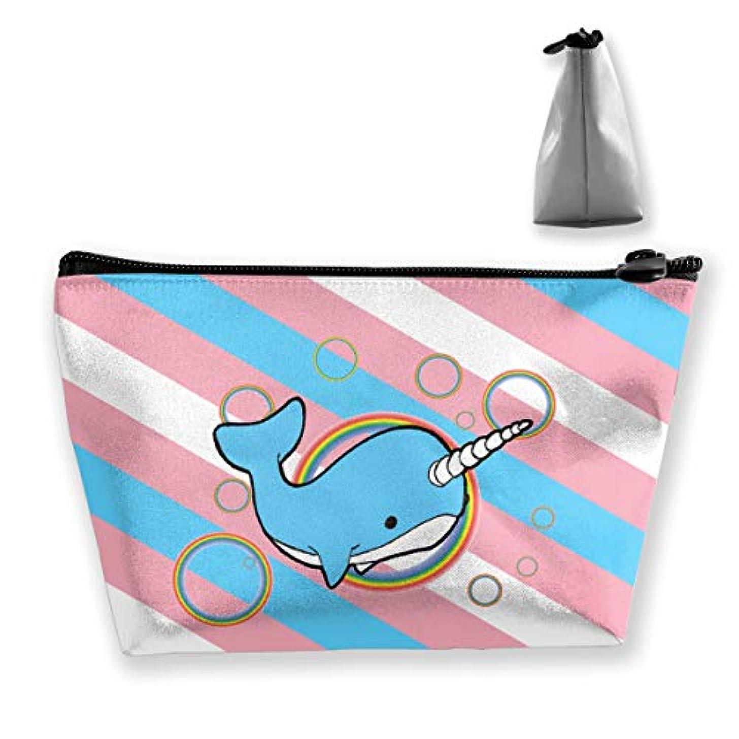 手入れ抽出忘れっぽいSzsgqkj アメリカの旗星と縞模様のトランスジェンダーの旗 イッカクラウンドカラフルなバブル 化粧品袋の携帯用旅行構造の袋の洗面用品の主催者