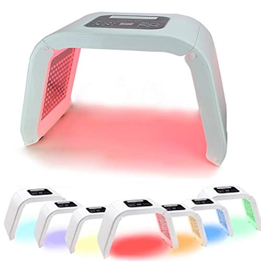 ジャーナリスト瞑想的会議7色がフェイスネックボディのための顔光子レッドライトセラピーアンチリンクルホワイトニングマシン光線力学をLED