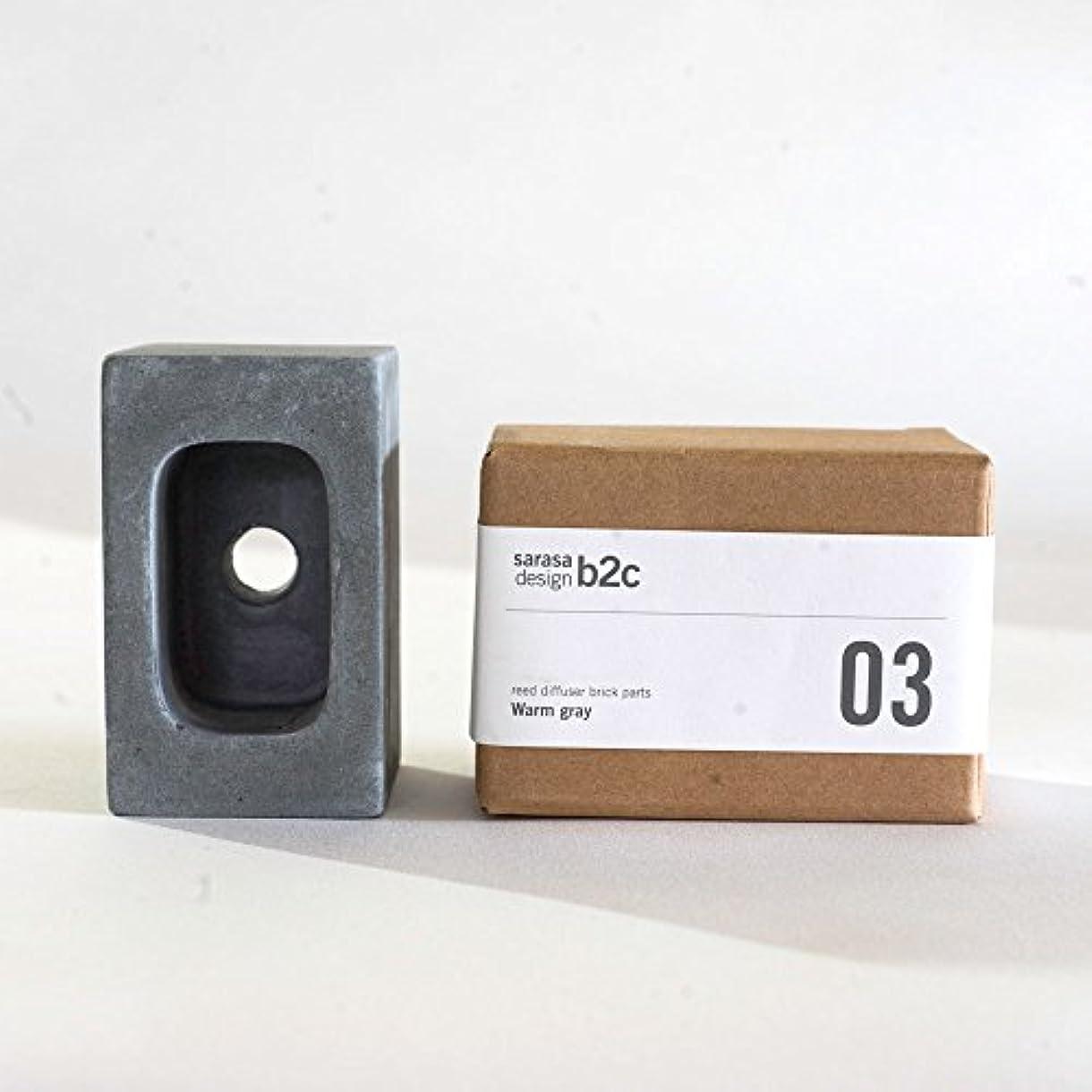 アウトドアそのヤングar003cgy/パーツ販売・b2c ブリック用 コンクリートパーツ(スクエア)《チャコールグレー》  芳香剤 ルームフレグランス リードディフューザー アロマ ディフューザー