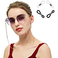 Xiang Ru Glasses Chain with Pearls Eyeglass Cord Strap Sunglass Holder Lanyard Spectacles Holder