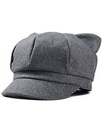 Capli ちょこんと飛び出たネコ耳がキュート 上品 大人 可愛い 猫耳 キャスケット 帽子 コーデ の アクセント にも