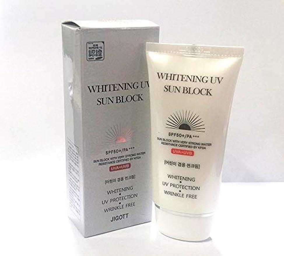 ゼリーアナウンサー持ってる[JIGOTT] ホワイトニングUVプロテクトサンブロッククリームSPF50 + PA +++ / Whitening UV Protection Sun Block Cream SPF50+ PA +++ / 韓国化粧品...