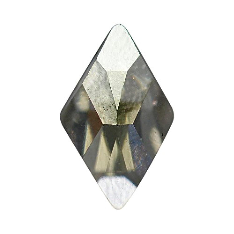 ネイルアートパーツ ランバスカット ブラックダイヤモンド 6.0×10.0mm 288P